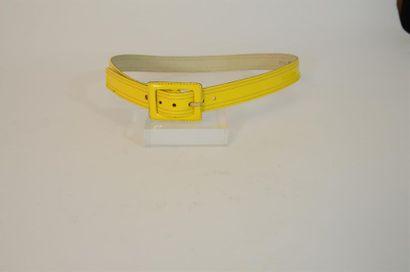 YVES SAINT LAURENT : ceinture en cuir ja...