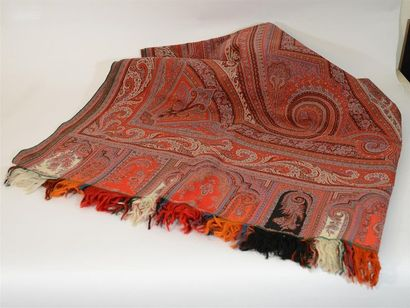 Beau châle en cachemire, vers 1870-1880,...