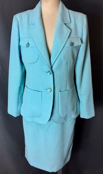 YVES SAINT LAURENT Variations  Tailleur jupe...