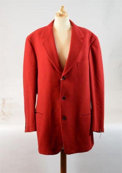 DONNA KARAN : Veste de tailleur rouge en...