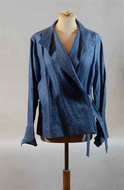 LOULOU DE LA FALAISE : Veste en lin bleu...