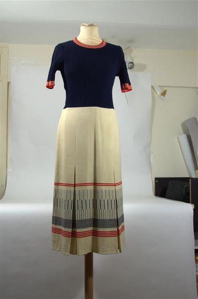 LANVIN PARIS : Robe longue, haut en maille...