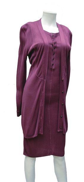ALAIA : Ensemble robe et gilet en maille...
