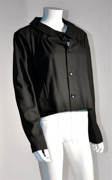 COMME DES GARCONS : Veste courte noir à col...