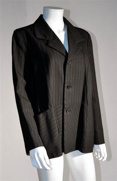 COMME DES GARCONS : Veste en lainage rayures...