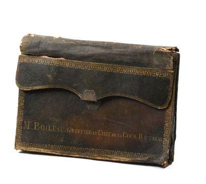 Portefeuille de Mr. Boileau, greffier en...