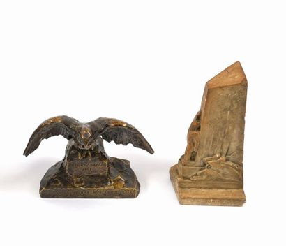 Aigle allemand en bronze.  Pour le noël 1941...