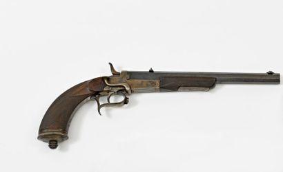 Rare pistolet d'entrainement au duel, dit...
