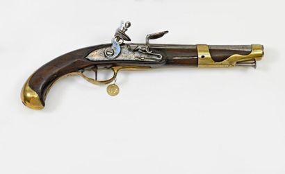Pistolet d'arçon model 1763/66.  Canon rond,...