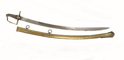 Sabre à la chasseur type 1792.  Garde en...