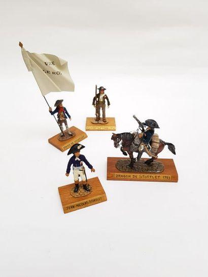 -Porte étendard l'armée de Stofflet.  -Cavalier,...