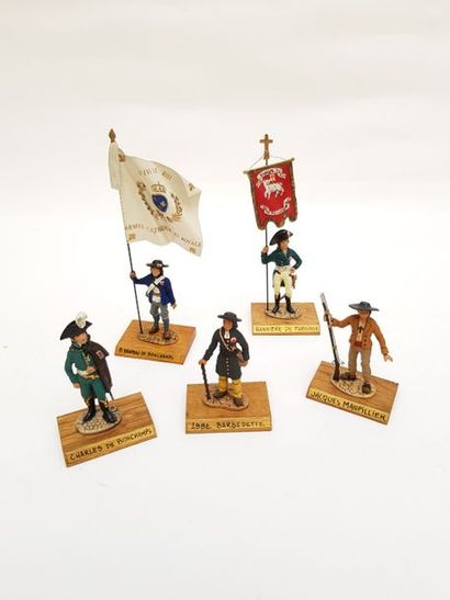 -Porte étendard au drapeau de Bonchamps....