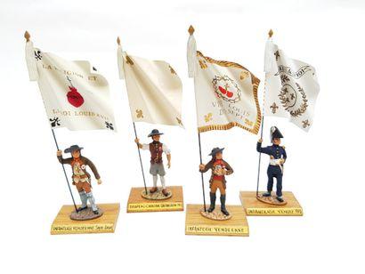 Quatre portes étendards :  -Infanterie vendéenne....