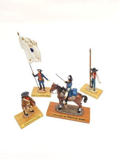 -Porte étendard, drapeau divisionnaire Mauges....