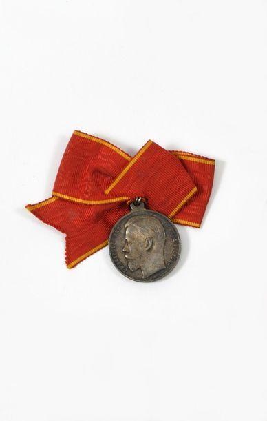 Médaille de Sainte-Anne en argent, avec son...