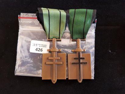 Deux Croix de l'ordre de la Libération en...
