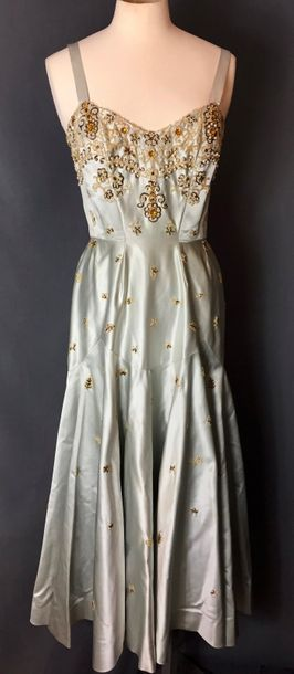 Madeleine VRAMANT, circa 1950  Robe grand...