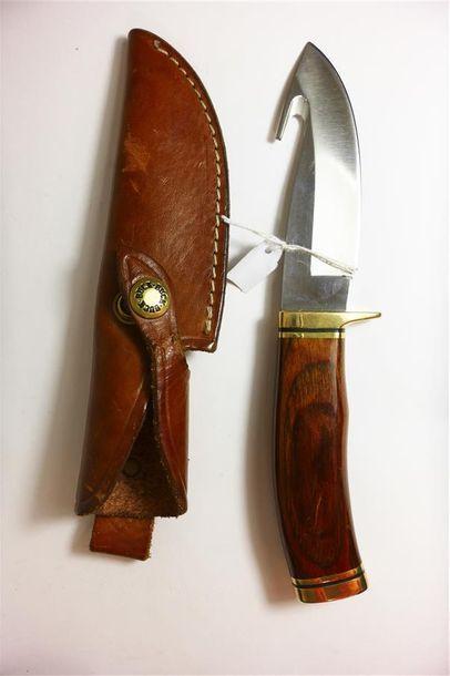 BUCK, USA  COUTEAU de chasse, lame avec crochet...