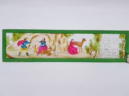 Lanterne magique allemande PLANK avec sa boite d'origine et 12 plaques complète...