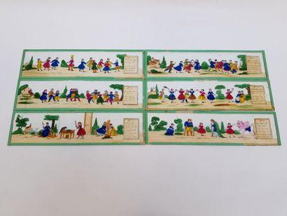 Lot de 3 boites de grandes plaques de lanterne magique française Format 30 cm X...