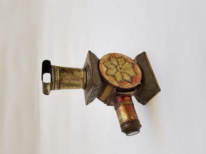 Lanterne magique polychrome SALON Auguste LAPIERRE, vers 1880 petite taille  H 20...