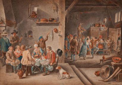 Ecole FLAMANDE vers 1800, suiveur de David...