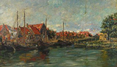 Piet VERHAERT (1852-1908)  Vue présumée du...