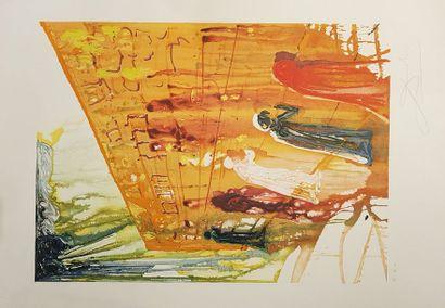 Salvador DALI d'après  Mur des lamentations 1975  Lithographie en couleurs contresignée...