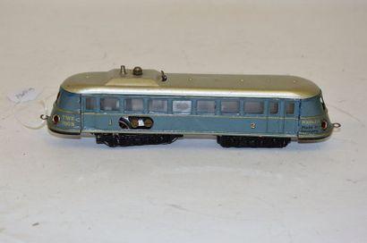 MÄRKLIN TWE B700/2 (1936) , railcar, 4 axles, in blue/grey, grey/silver roof, reverser...
