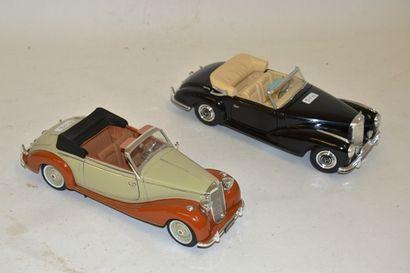 (2) voitures cabriolet échelle 1/18 en parfait...