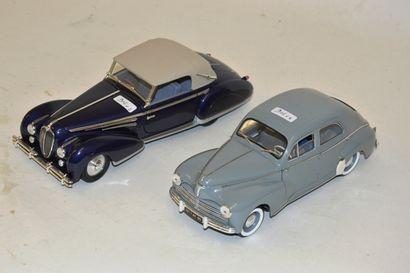 (2) voitures françaises, échelle 1/18 :  -...