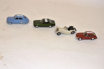 (4) voitures 1/43 : Western, 2x Solido, Dinky...