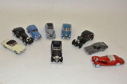 (9) voitures 1/43 : en bel état marques diverses:...