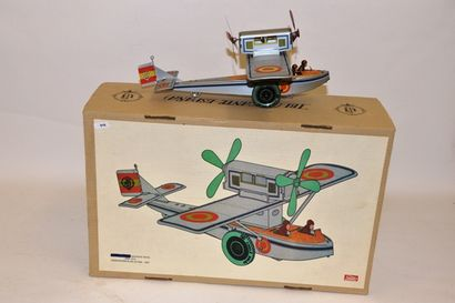 PAYA hydra-avion, en tôle argentée, moteur...