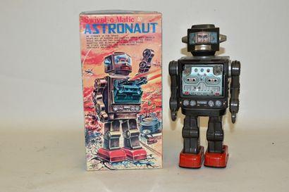 SH, Japan, Robot, astronaute, en métal gris/noir,...