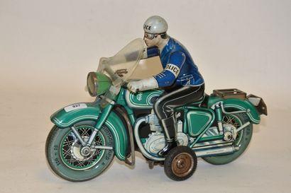 TCO, Germany, moto de police, en tôle lithograpiée,...
