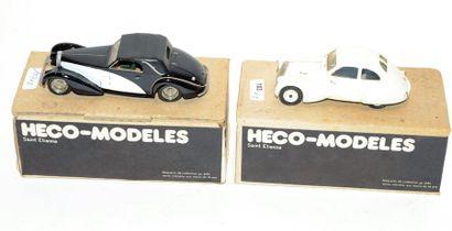 (2) HECO-MODELE. 1 Bugatti 57C en résine...