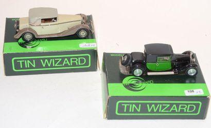 (2) TIN WIZARD, 1 Bugatti Fiacre de 1927...