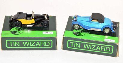 (2) TIN WIWIZARD, 1 Bugatti Cabriolet Gangloff...