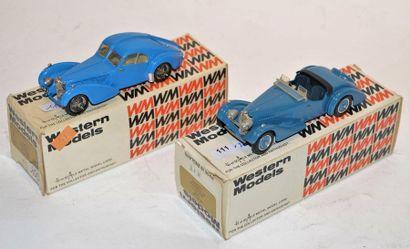 (2) WESTERN MODELS, 1 Bugatti type 57 SC...