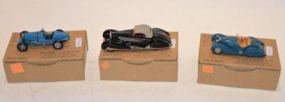 (3) DB, 1 Bugatti type 35B Sport Biplace...
