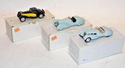 (3) VROOM, 1 Bugatti type 57s Grand Raid...