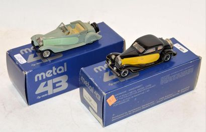 (2) METAL 43 WM, 1 Bugatti type 57 Stelvio...
