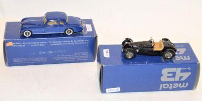 (2) METAL 43 WM, 1 Bugatti type 53/54 Roi...