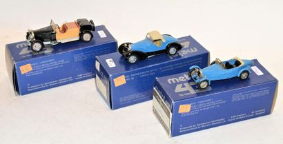 (3) METAL 43 WM, 1 Bugatti type 43 Graber...