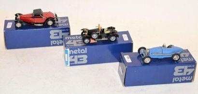 (3) METAL 43 WM, 1 Bugatti type 18 Black...