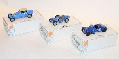 ,(3) M.C.M. 1 Bugatti type 43 Grand sport...