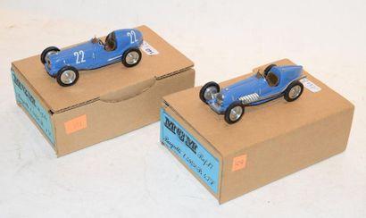 (2) M.C.M. 1 Bugatti type 59/50B Essais Grand...