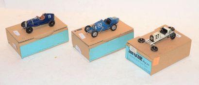 (3) M.C.M. 1 Bugatti type 19 Course de 1915...