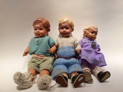 TORTUE (3) bébés habillés, 45, 49, 40/46